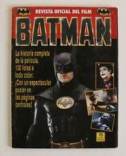 1989 Zinco BATMAN OFFICIAL MOVIE SOUVENIR Spanish MAGAZINE 104 pages 130 pics