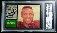 1962 Topps #27 Ray Renfro PSA DNA Signed Autograph Browns Card RARE d.97