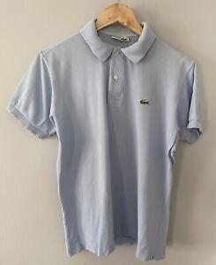 Lacoste Chemise Polo Shirt Sz 4 Small Blue Vintage
