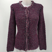 J Mclaughlin Purple Cardigan Sweater Medium