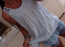 H39 TOP Hängerchen S M L NEU Tunika Bluse BLOGGER Spitze Shirt TREND MUSTHAVE 38