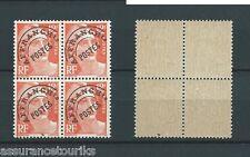 PRÉOBLITÉRÉS - 1922-47 YT 103A BLOC DE 4 - TIMBRES NEUFS** LUXE