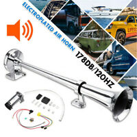 AU 178DB Single Trumpet Air Horn Compressor Kit For Van Train Car Truck Boat 12V