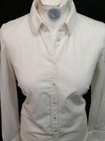 Mango Basics Shirt - Size M - White - Cotton - Long Sleeve