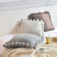 Knitted Pillowcase Cushion Cover Sofa Pillow Cover Decor With Hidden Zipper
