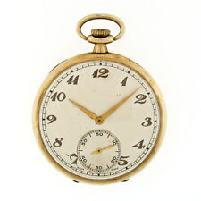 Antique Solid 9k Gold Case Very Fine 15j Cortebert Cal 620 Swiss Pocket Watch