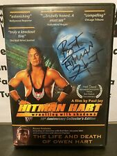 Bret Hart Autographed HITMAN HART Wrestling With Shadows DVD