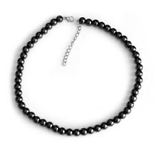 Natural Magnet Hematite Health Necklace for Arthritic Pain Blood Pressure 8mm
