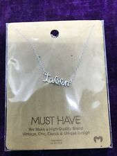 """17"""" Silver Plated """"Taken"""" Necklace"""