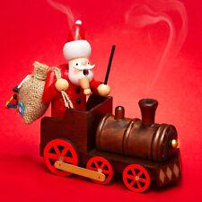 SIKORA RM-A01-LOK Wooden Incense Smoking Figure Christmas - Santa in Locomotive