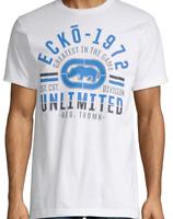 ECKO UNLTD.CREW NECK SHORT SLEEVE WHITE T-SHIRT SIZE L 70203