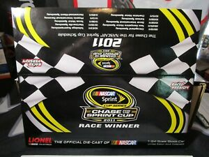 TONY STEWART 2011 1/24 NEW HAMPSHIRE WIN RACED VERSION REPLACEMENT BOX. NO CAR.