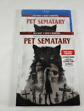 Pet Sematary (2019) Blu ray + DVD + Digital & Slipcover Brand New Free Shipping