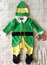 Elf Movie ~ Buddy Baby Christmas Fancy Dress Costume/All In One Babygrow Outfit