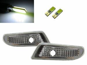 W220 00-06 Front Bumper Side Marker Indicators W/S LED Bulb Chrome Mercedes-Benz