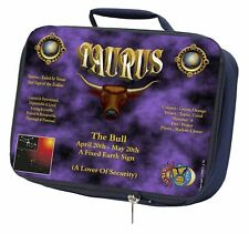 Taurus Star Sign Birthday Gift Navy Insulated School Lunch Box Bag, ZOD-2LBN