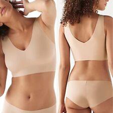 True & Co True Body V-Neck Bra Size M Dulce Beige Removable Pads $49 New NWOT