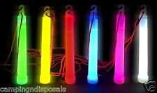 100x Glow Sticks Red 6 Inches Hook Lanyard Light Party Glowsticks Rave Camping