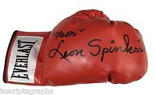 """LEON SPINKS JR. """"FULL NAME"""" SIGNED BOXING GLOVE #D/10 """"NEON"""" AUTOGRAPH ALI"""