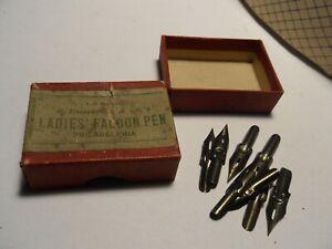 8 Calligraphy Nibs Pen Tips 182 Ladies Falcon Pen Esterbrock & Co Original Box