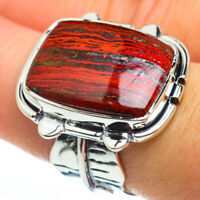 Large Red Jasper 925 Sterling Silver Ring Size 7.75 Ana Co Jewelry R45856F