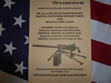 Manual técnico TM 9-1005. Ametralladora BROWNING 1919 calibre 30 USA TÉCNICA