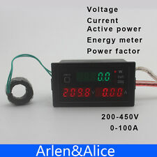 DL69 Multi-functional LED display Electric energy power factor 200-450V 0-100A
