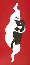 Gespenst mit Katze-Geist-Halloween-Gruselspaß-Tonkarton Fensterbild-Herbst-Deko