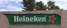 Heineken Huge Beer Material Banner Hanging Flag, Over 13 Feet Long By 33� Tall