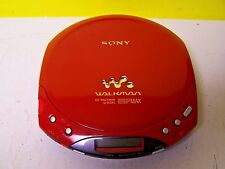 Sony D-E220 ESP MAX CD-R/RW CD Walkman Player RED Discman Works Tested