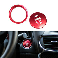 Red Keyless Engine Start Push Button Sticker Cover Ring Decor for Mazda 3 CX-3