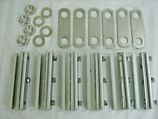 """6 Solar Connector Bars Terminals Aluminum 6"""" long 1 3/4"""" wide & 4 Nuts & Washers"""