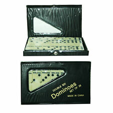 Set of 28 Double Six Dominoes in PVC Carry Case Traditional Travel Game 08013