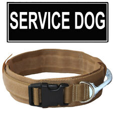 2 Inch Tactical Military Hunting Training Dog Collar Nylon W/ Reflective handle