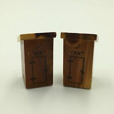 Vintage Salt & Pepper Shakers Ma & Pa Outhouse - Wood Pequot Lakes, Minn.