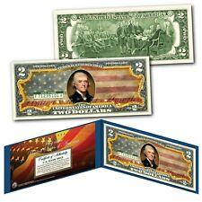 United States of America Flag Legal Tender $2 Bill Colorized - Vintage Design