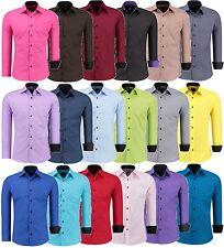 Herren Hemd Hemden Business Hochzeit Freizeit Slim Fit Bügelleicht Jeel-12105