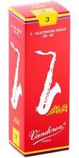 Vandoren Java Red Tenor Saxophone Reeds Strength 3, Box of 5