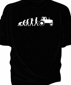 'Evolution of Man' classic tractor t-shirt.   Farm tractor
