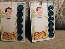 Ultra Kraft Genuine Ocean Pearl Men's 6 Buttons New on Card Vintage 1940's 2 Set