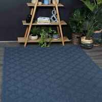 Silfra Blue Indoor Outdoor Diamonds Modern Floor Rug - 6 Sizes **FREE DELIVERY*