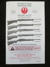 New Instruction Manual for Ruger 10/22 Autoloading Rifles 22Lr - Dated 2012