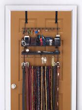 Longstem Men's Over the Door/Wall Organizer #9200 Tie Belt Rack Valet  Black****