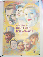 "PAUL DAVIS TWELFTH NIGHT & TITUS ANDRONICUS 1989 POSTER 45"" X 30"""