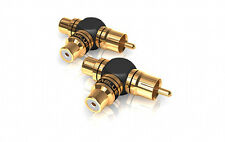 ViaBlue XS Y Adapter Cinch Adapter CINCH Distributor 40640 RCA 2-1 Gold Plated
