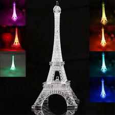 Paris Eiffel Tower LED Lamp Neon Sign Projector Illusion Night Light Bar Pub Bed
