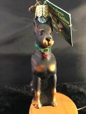 Old World Christmas Glass Ornament Doberman Pincher Traditions to Cherish NWT