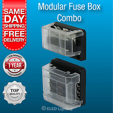 Caravan Electrical Terminal Fuse Block 6 Way with Negative Bus Bar Junction Box