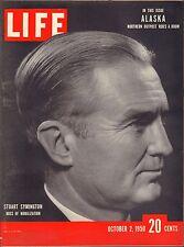 Life Magazine October 2 1950 Birthday, Stuart Symington VG 042216DBE