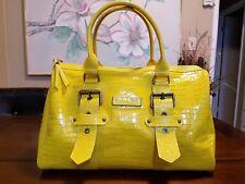 LONGCHAMP Kate Moss Gloucester Croc Yellow Leather X-Large Satchel Handbag $775